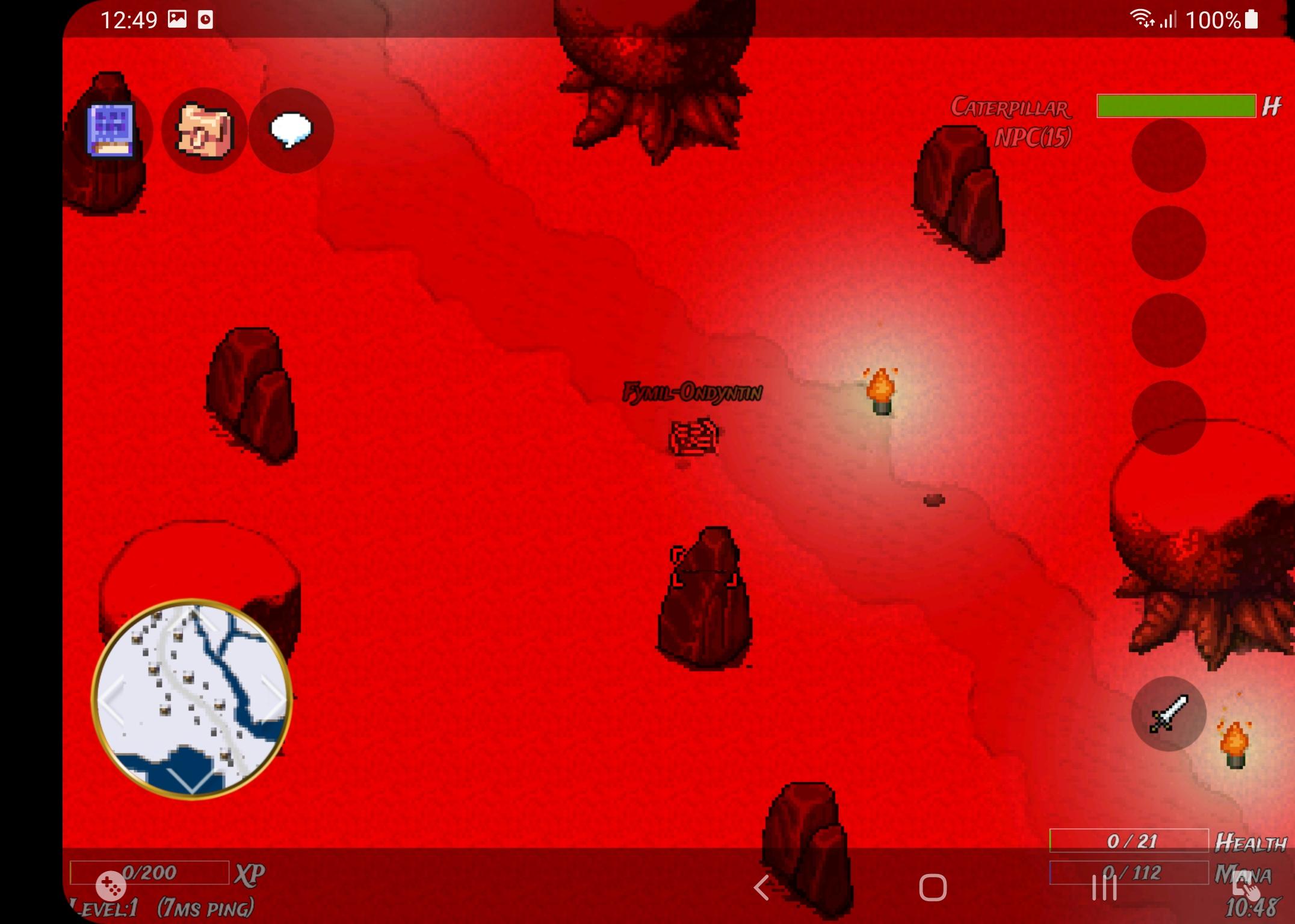 Screenshot of a battle